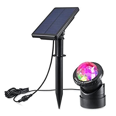 CREATIVE DESIGN Multicolored Submersible Led Lights, Solar Powered USB Pond Light Fountain Lights, Waterproof Spotlight Wall Light for Swimming Pool Aquarium Fountain Garden