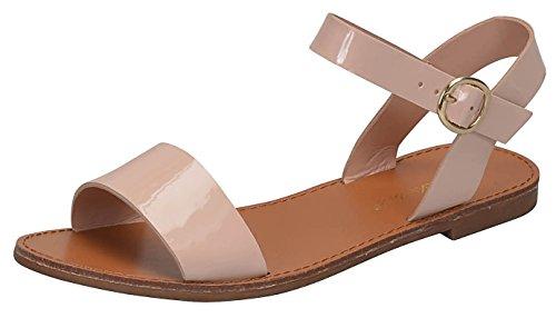 Patent Cut Out Flat Sandal - 3