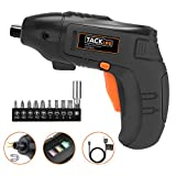 Electric Screwdriver, Tacklife Cordless Screwdriver Rechargeable 1500 mAh Li-on Battery with 10 Pcs Bonus Screw Bits for...