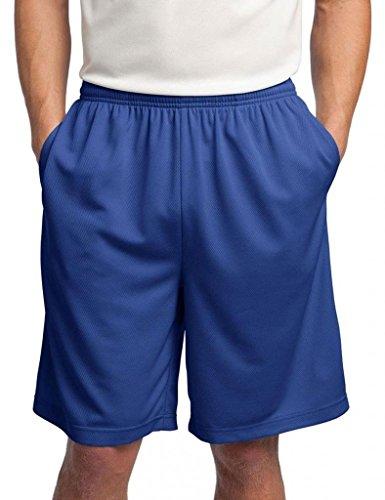 Sport-Tek Men's Side Pockets Performance Short, True Royal, X-Large