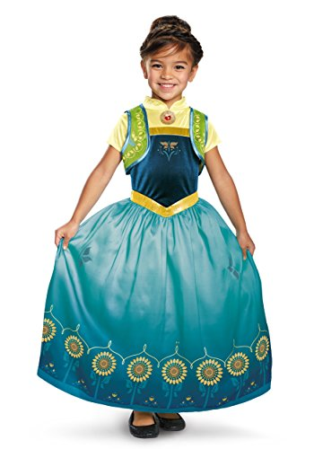 Anna Frozen Fever Deluxe Costume, One Color, Large (Anna And Elsa Halloween Costumes)