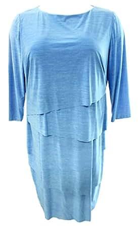 Tahari By ASL Marled Women's Plus Tiered Sheath Dress