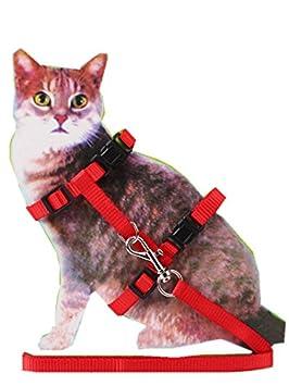 Arnés para gato y correa ajustable collar de arnés para control de ...