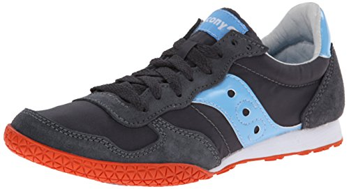 Saucony Originals Women's Bullet Fashion Sneaker, Charcoal/Light Blue, 9 M US