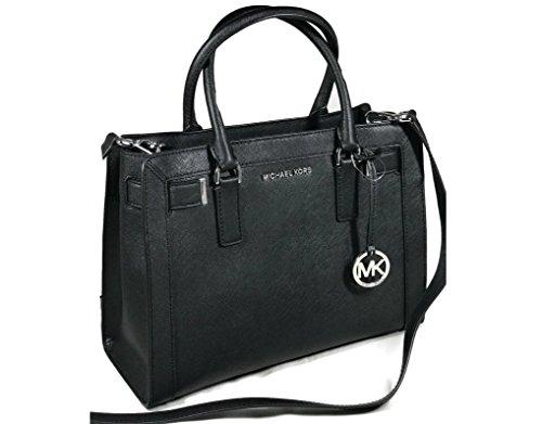 MICHAEL Michael Kors Women's Dillon Shoulder Bag Medium Leather Satchel Handbag (Michael Kors Top Zip Shoulder Bag)