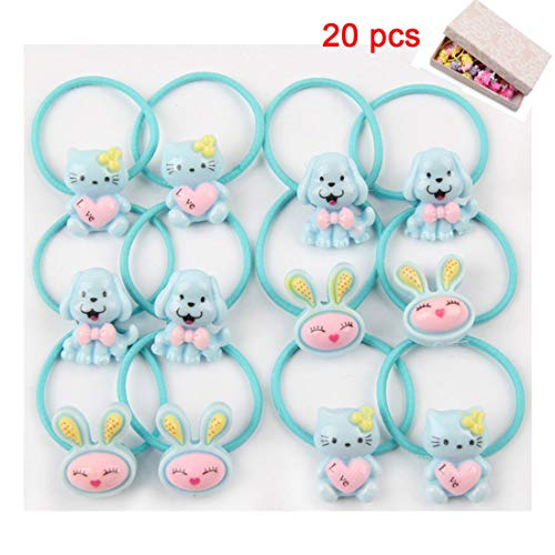 6d3c3e5b6e9a0 BTshine Cartoon Elastic Hair Ties - 20 PCS (10 Pairs) Toddler Ponytail  Holder Small Ropes for Girls