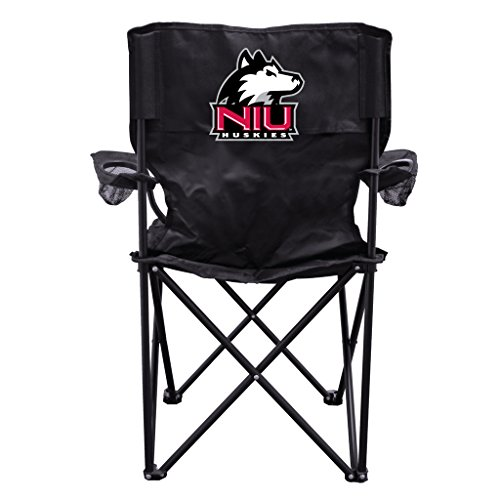 Northern Illinois University Huskies Black Folding Camping Chair with Carry Bag