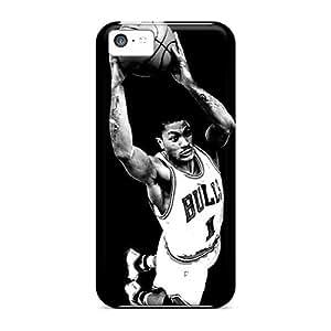 Iphone 5c EEg2239mVyO Allow Personal Design Lifelike Derrick Rose Image Bumper Phone Cases -JonathanMaedel