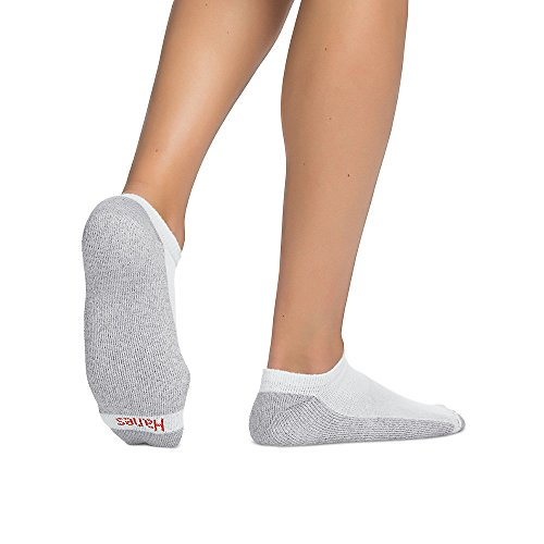 Hanes Men's No-Show Socks 12-Pack,White/Grey,10-13 by Hanes