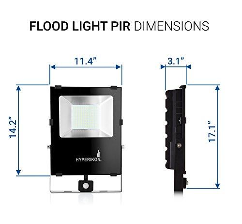 Hyperikon LED Outdoor Flood Light With Motion Sensor Light