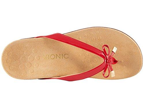 BellaII Sandal Rest Patent Vionic Women's Red Toepost wzgHaq