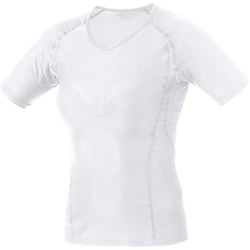 GORE RUNNING WEAR Femme Sous-vêtement, Maillot à manches courtes, Respirant, GORE Selected Fabrics, ESSENTIAL BL, Taille XL, Blanc, UESLSH010006