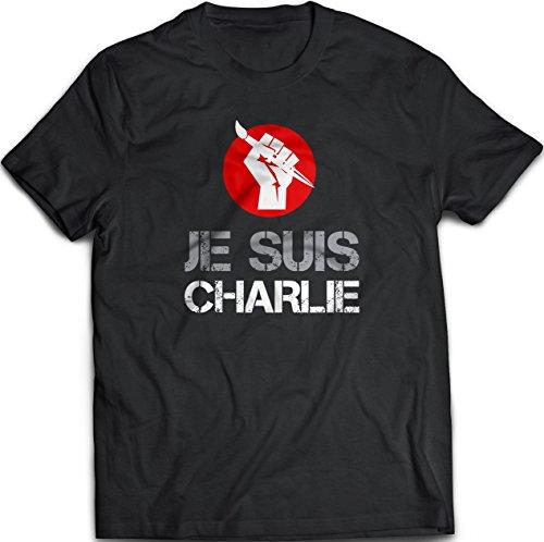 Je Suis Charlie, I am Charlie, Charlie Hebdo Attack Protest T-Shirt, Black, - Usps To France Shipping