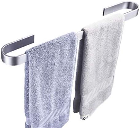 パンチフリーの自己接着タオルバー、スペースアルミニウム、防水性と耐湿性、耐久性と錆びない、バスルーム、ホテルに適しています