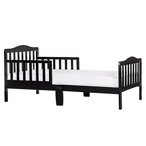 (Classic Designed Toddler Bed in Black Finish, Two Side Safety Rails, Crib, Kid's Room Furniture, Toddler Bed, Standard Bed, Bundle Our Expert Guide Tips Home Arrangement)