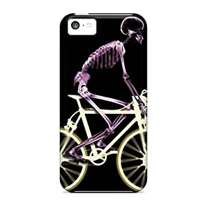 Defender Case For Iphone 5c, Skeleto Racin Pattern