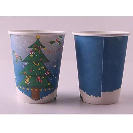 BIGBOBA 10 Tasses 10 Plateaux en Papier Fournitures pour Assiettes /à gobelets jetables en Papier Cadeau de d/écoration de f/ête en f/ête de No/ël