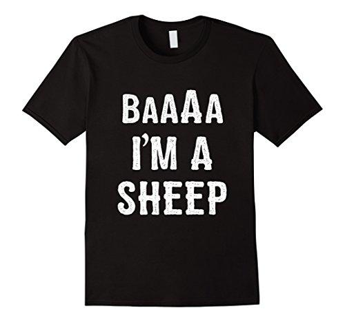 Mens I'm a Sheep Halloween Costume T Shirt 2XL (Sheep Costume For Men)