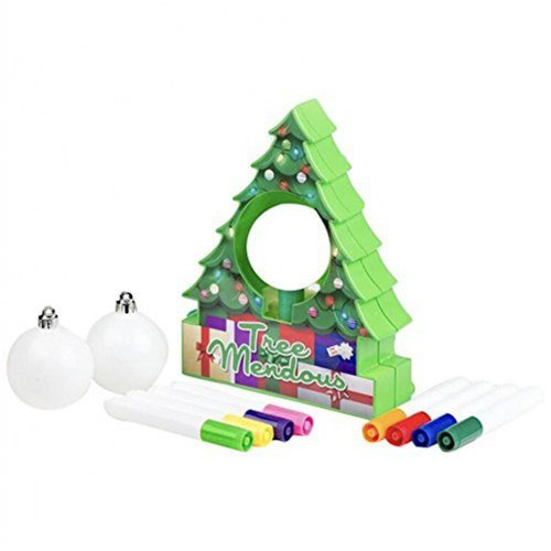 TreeMendous Christmas Tree Ornament Decorating Kit for Kids ages 6+. Top Rated Craft Activity Game, Holiday Toy DIY Ornament Maker