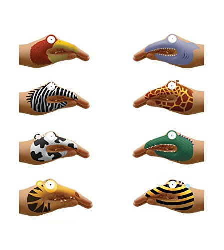NPW-USA Animal Hands Temporary Tattoos (8 Count) by NPW (Image #2)