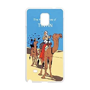 Samsung Galaxy Note 4 Cell Phone Case White TinTin cartoon zdtb