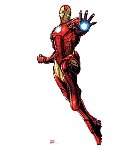 Iron Man - Marvel's Avengers Assemble - Advanced Graphics Life Size Cardboard Standup - Iron Man Costume Cardboard