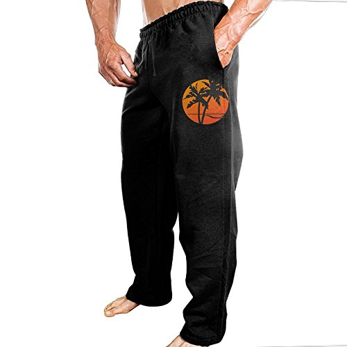 TERTR4E4 Men's Casual Athletics Jogger Sports Sweatpants Elastic Waist Palm Tree Sweatpants Cost Frame Jersey