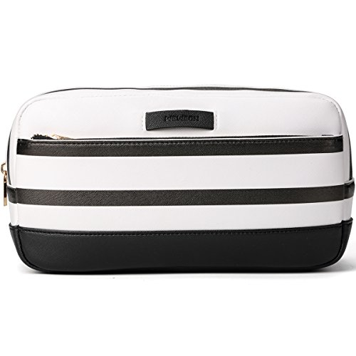 Square Cosmetic Case Bag, Everyday Makeup Beauty Bag,Toiletry Bag for Women Men (Black)