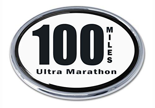 Ultra Marathon 100 Miles Chrome Emblem (100 Miles)
