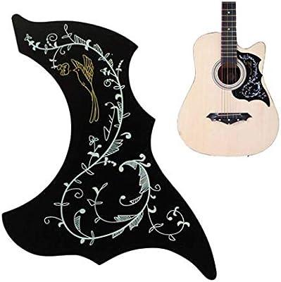 Chytaii Golpeador de Guitarra Acústica Autoadhesivo Autoadhesiva Tablero de Protección de Guitarra Pegatina de Etiqueta de Guitarra Negro PVC: Amazon.es: Hogar