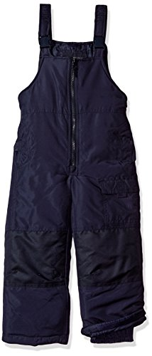 London Fog Baby Boys' Toddler Classic Heavyweight Snow Bib Ski Pant, Navy, 3T