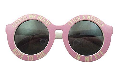 7661558516a Mei Kaidi Pink Color Circular Letters of The Alphabet Sunglasses Female Big  Box Retro Sunglasses Shade