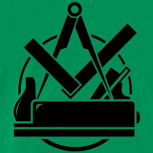 Tischler Zeichen spreadshirt tischler emblem schreiner logo männer premium t shirt