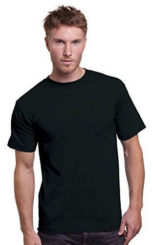 Bayside Adult Union Made Pocket Tee, XL, BLACK ()