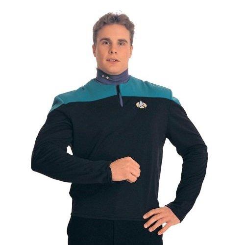 Dr. Bashir Star Trek Costume Uniform Shirt (Teal) - Adult Large (Star Trek Voyager Costume)