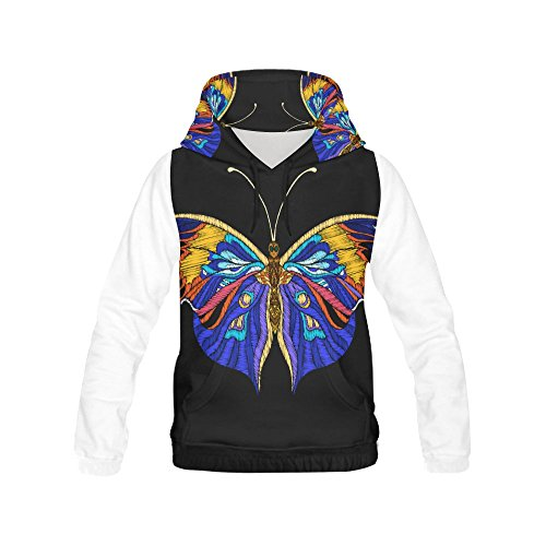 D-Story Butterfly Pullover Hoodie Hooded Sweatshirt for Women