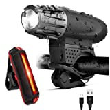 Bicycle Headlight and Taillight-THE BRIGHTEST USB bike lights on the market ,our bike headlight and rear light set makes you perfectly visible at night and offers excellent protection on the road.