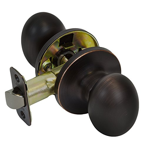 Burton Harbor Egg Style Closet Hallway Door Knob, Oil Rubbed (Solid Brass Egg Knobs)