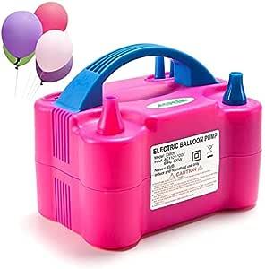 منفاخ بالون كهربائي للأطفال ، فوشي وأزرق