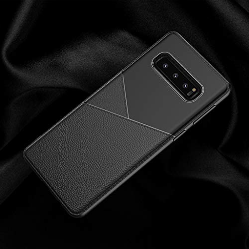 for Samsung Galaxy S10 Plus Case,Thing-ning Slim Fit Premium PU Leather Soft TPU Bumper Rugged Grip Shockproof Protective Cover Cases Compatible with Samsung Galaxy S10 Plus (Black) by thing-ning Phone Case (Image #4)