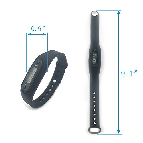 Pedometer, Simply Operation Walking Running Fitness Tracker Band by Bereezy