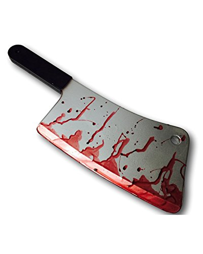 Rubber Johnnies Meat Cleaver, Butcher's Knife, Full Size, Foam, Movie Quality Prop Silver]()