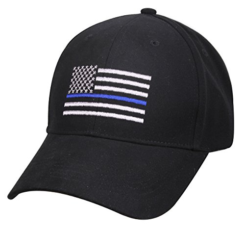 Rothco Thin Blue Line Flag Low Profile Cap  Black