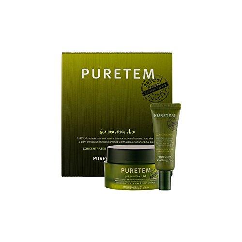 Puretem Purevera Facial Skin Cream Set 100 Organic Aloe Vera by Kwailnara