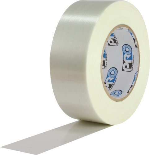 ProTapes Pro 167 Rubber Polyester Premium Filament Packaging Tape, 60 yds Length x 1