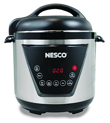 Nesco American Harvest PC6-13 Pressure Cooker, Silver/Black, 6 quart