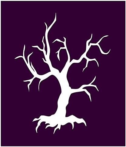 Stencil-Witch-Tree Single Design Auto Vynamics Creepy Old Dead Tree Individual Stencil from Detailed Witches /& Witchcraft Stencil Set! 9-by-10-inch Sheet