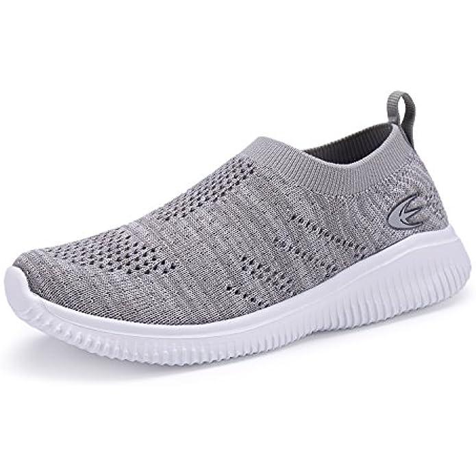 Leader shoes Toddler Little Kid Boys Girls Slip-On Shoes Lightweight Breathable Walking Sneakers