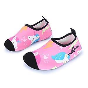 JIASUQI Kids Boys and Girls Summer Athletic Water Shoes Aqua Socks for Beach Swimming Pool