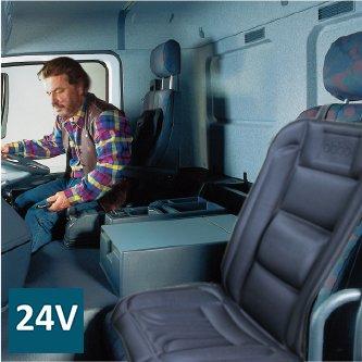 ObboMed SH-4170A 12V 45W Funda de Cojín del Asiento en Calefacción con Soporte Lumbar, Modelo de Lujo con Prima Toma del Mechero para Coche, Automóvil, Vehículo; Negro con Dibujos Azul Oscuro Automóvil ObboMed Group